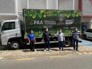 Newton Bello : Prefeitura recebe Caminhão para reforçar Programa de Aquisição de Alimentos-PAA no município.