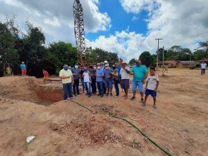 Prefeito e Vereadores vistoriam início das obras da construção do sistema de abastecimento de água do Povoado Barro Branco