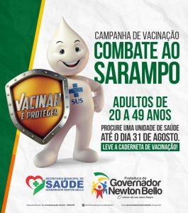 Campanha de Vacinação contra o Sarampo segue até 31 de Agosto