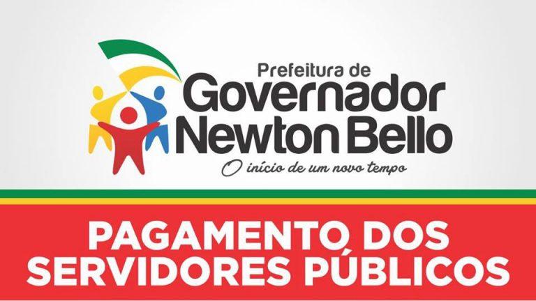 Prefeitura de Gov.Newton Bello paga servidores públicos.