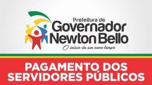 Newton Bello – Prefeitura antecipa pagamento dos funcionários públicos