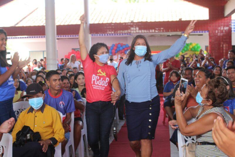 Convenção do PL, PCdoB e Patriota, oficializa candidatura de Tate do Ademar à reeleição em Amapá do Maranhão.