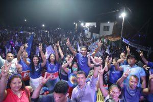 Presidente Juscelino : Grupo 22 liderado por Dr. Pedro Paulo mostra força e realiza Caminhada e Comício histórico