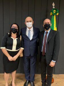 Prefeita Nelene Gomes cumpre agenda com ministro da Educação, em Brasília